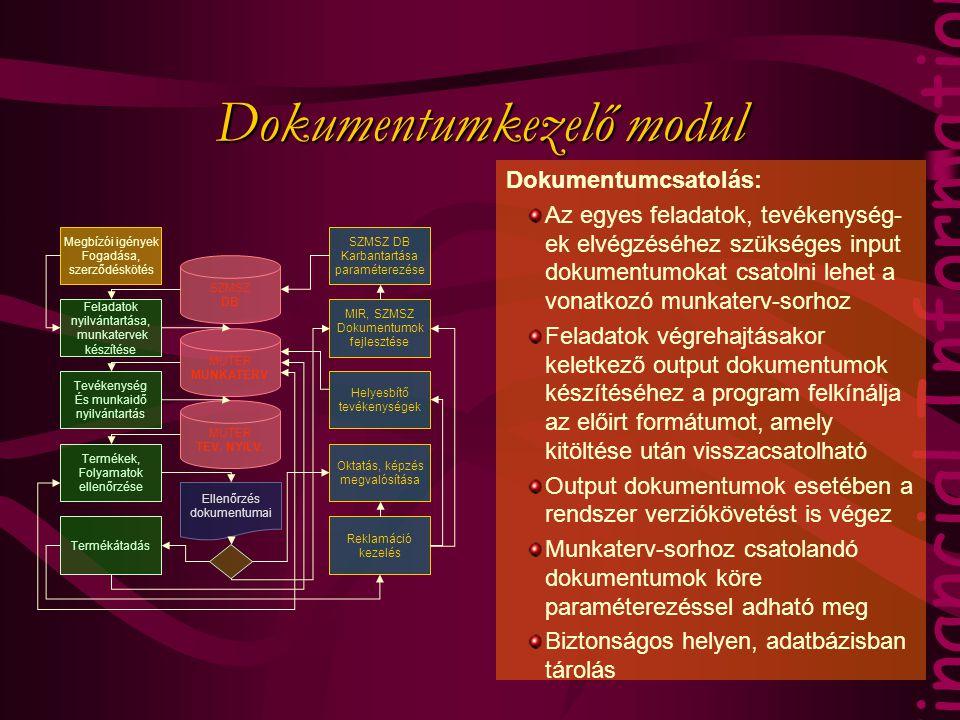 Dokumentumkezelő modul