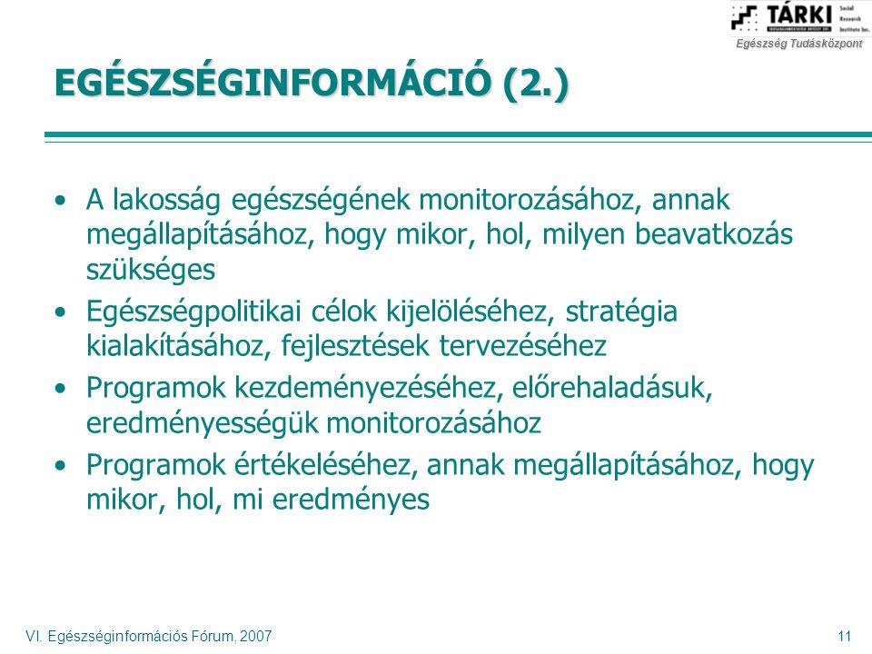 EGÉSZSÉGINFORMÁCIÓ (2.)