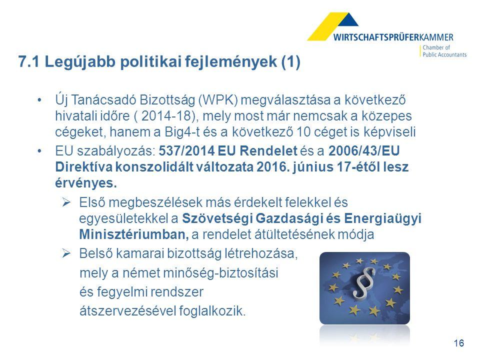 7.1 Legújabb politikai fejlemények (1)