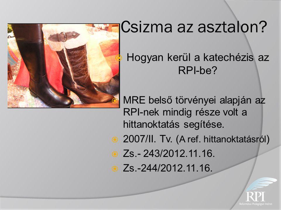 Hogyan kerül a katechézis az RPI-be