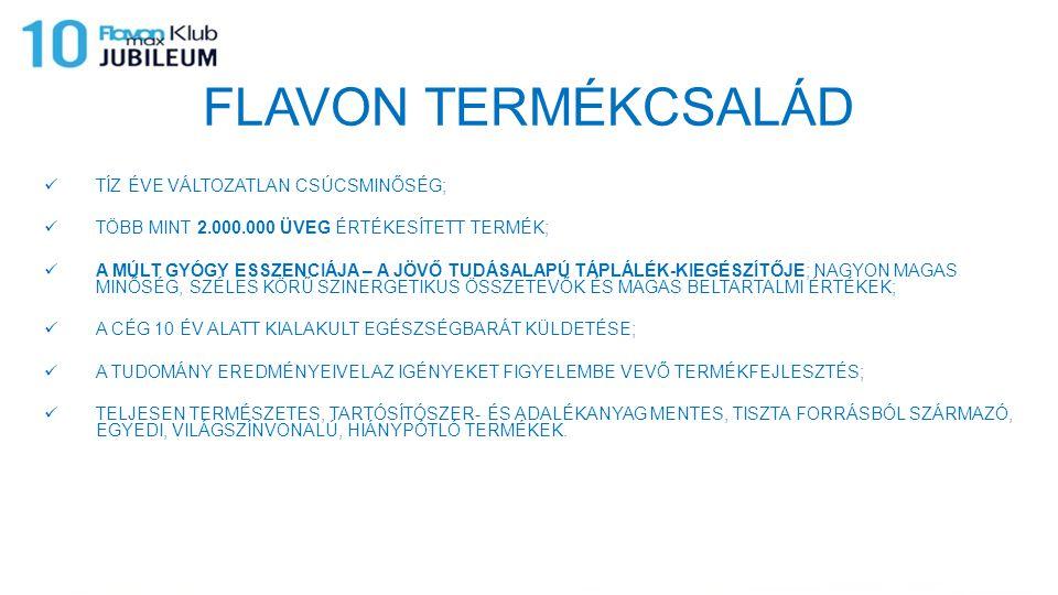 FLAVON TERMÉKCSALÁD TÍZ ÉVE VÁLTOZATLAN CSÚCSMINŐSÉG;