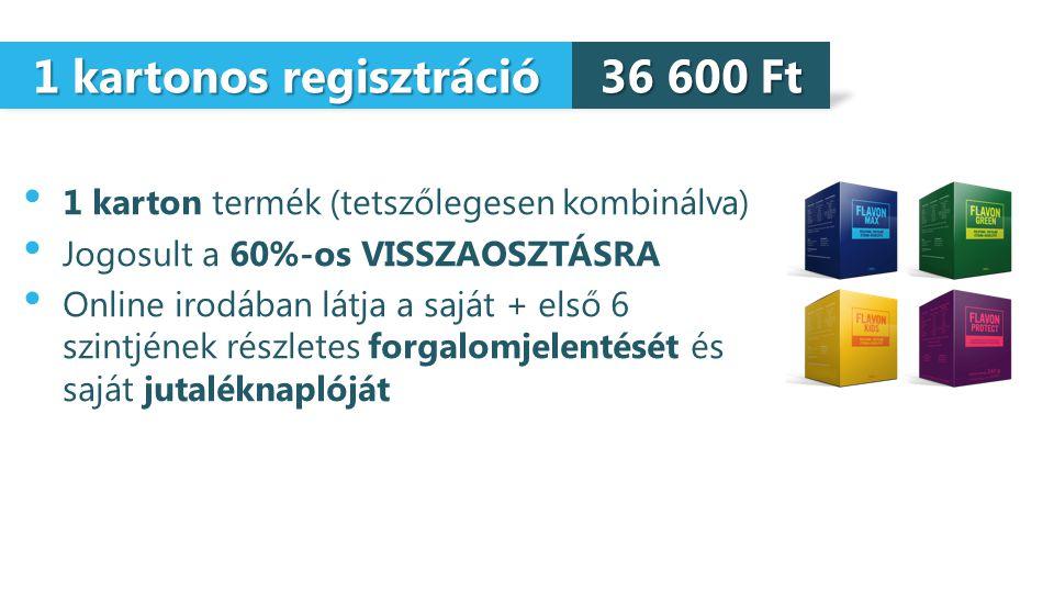 1 kartonos regisztráció
