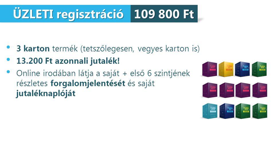 ÜZLETI regisztráció 109 800 Ft