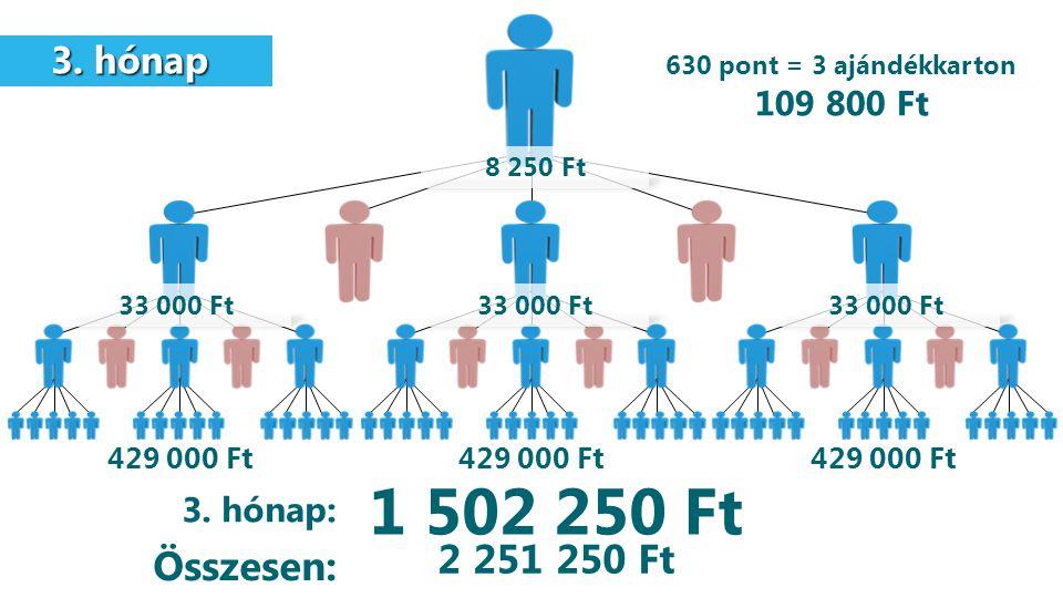1 502 250 Ft 2 251 250 Ft Összesen: 3. hónap 109 800 Ft 3. hónap: