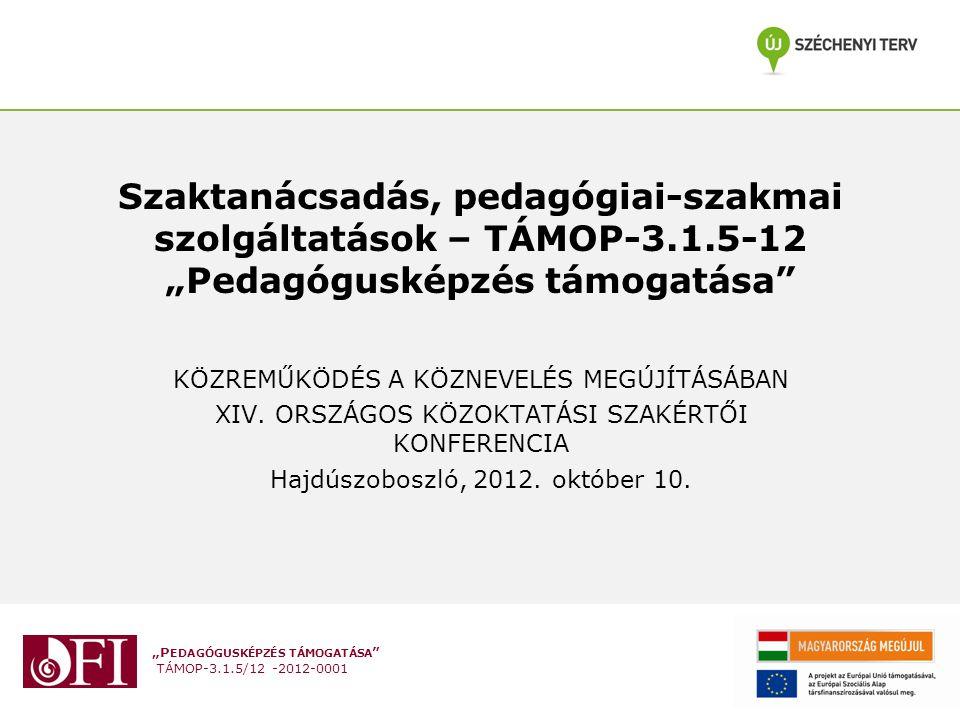 Szaktanácsadás, pedagógiai-szakmai szolgáltatások – TÁMOP-3. 1