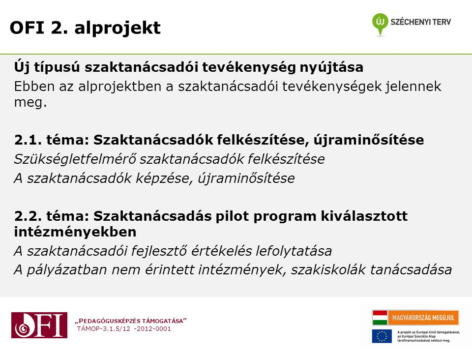 OFI 2. alprojekt