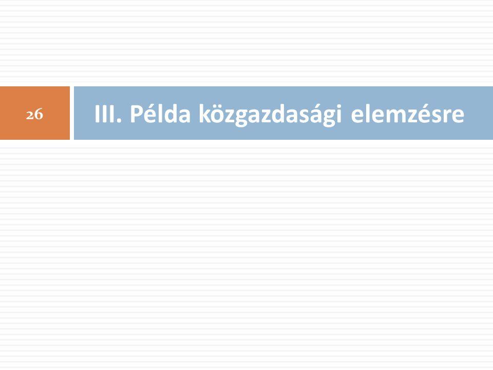 III. Példa közgazdasági elemzésre