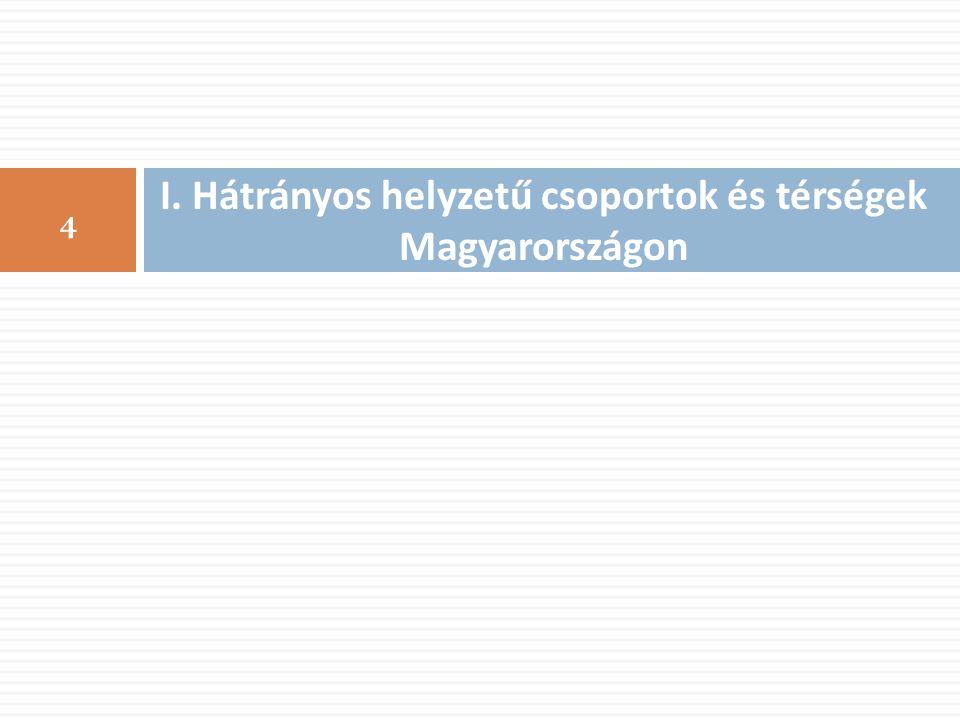 I. Hátrányos helyzetű csoportok és térségek Magyarországon