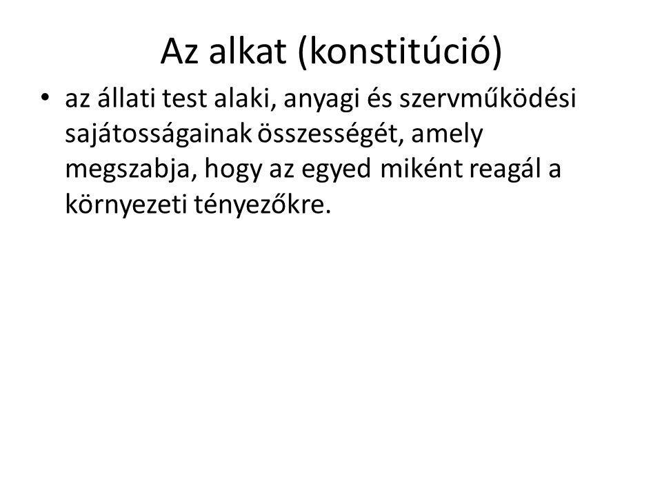 Az alkat (konstitúció)