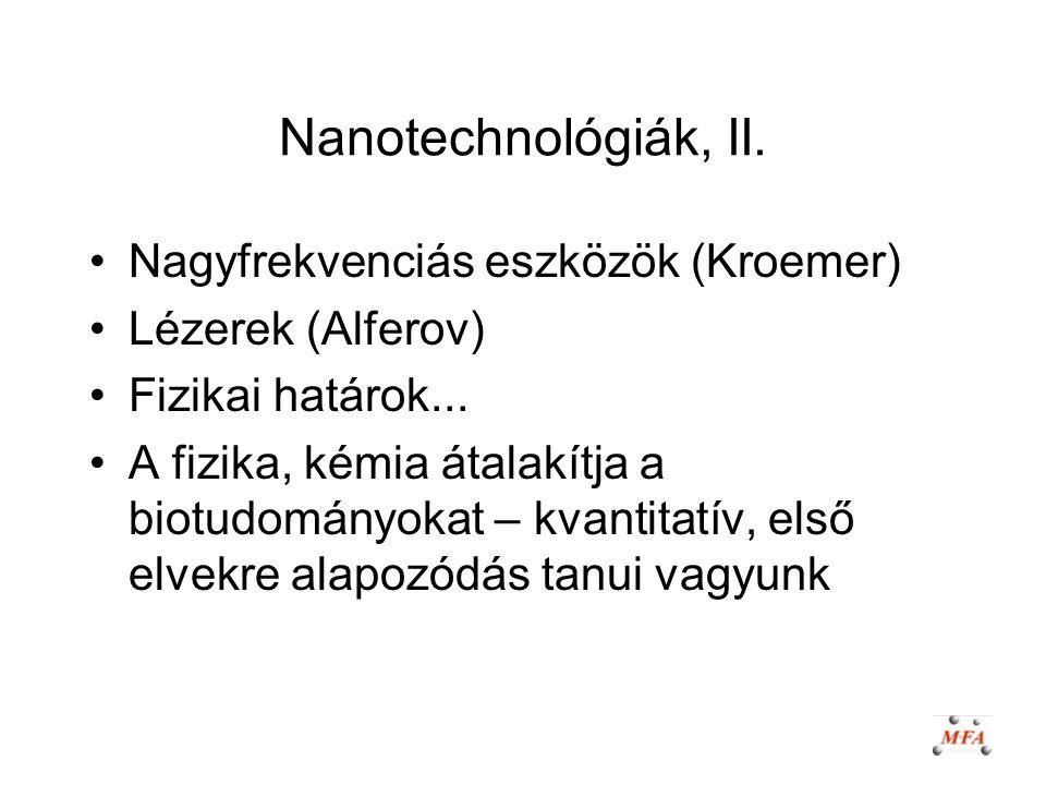 Nanotechnológiák, II. Nagyfrekvenciás eszközök (Kroemer)