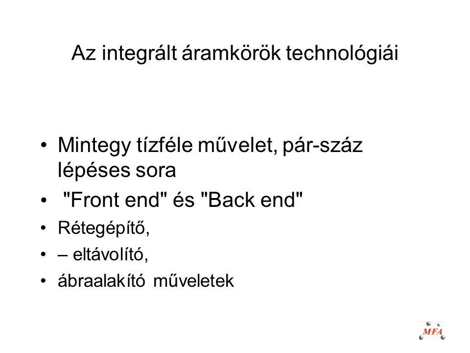 Az integrált áramkörök technológiái