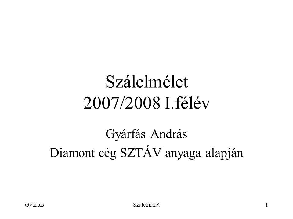 Gyárfás András Diamont cég SZTÁV anyaga alapján