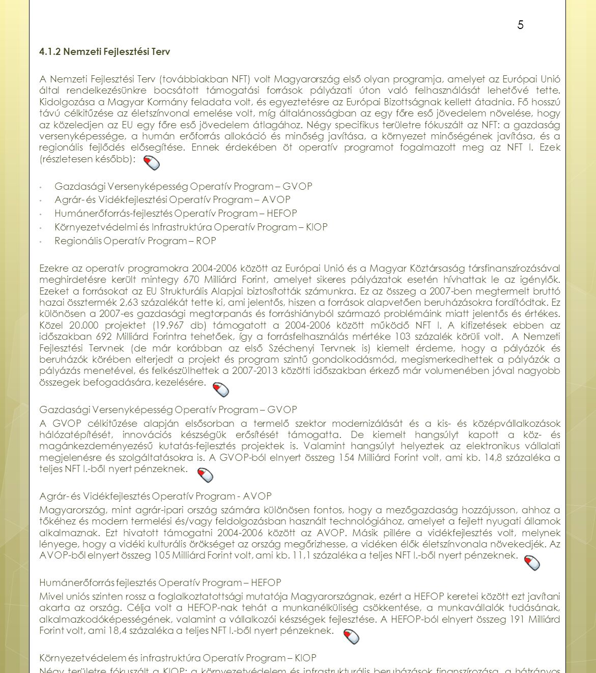 4.1.2 Nemzeti Fejlesztési Terv