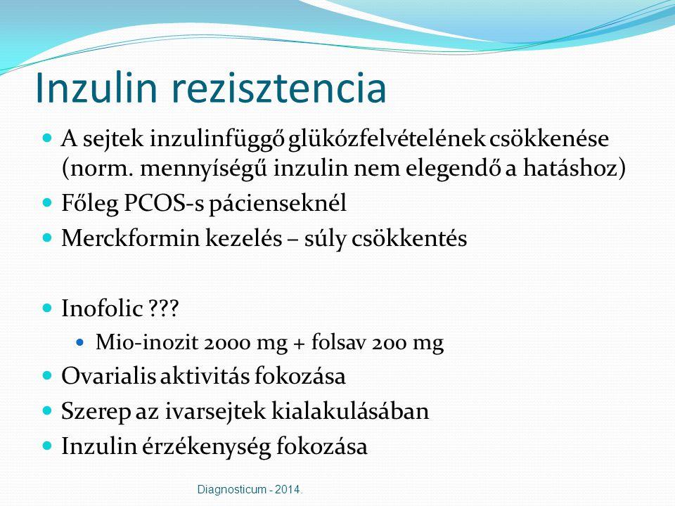 Inzulin rezisztencia A sejtek inzulinfüggő glükózfelvételének csökkenése (norm. mennyíségű inzulin nem elegendő a hatáshoz)
