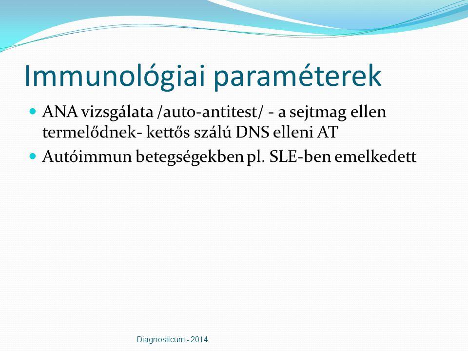 Immunológiai paraméterek