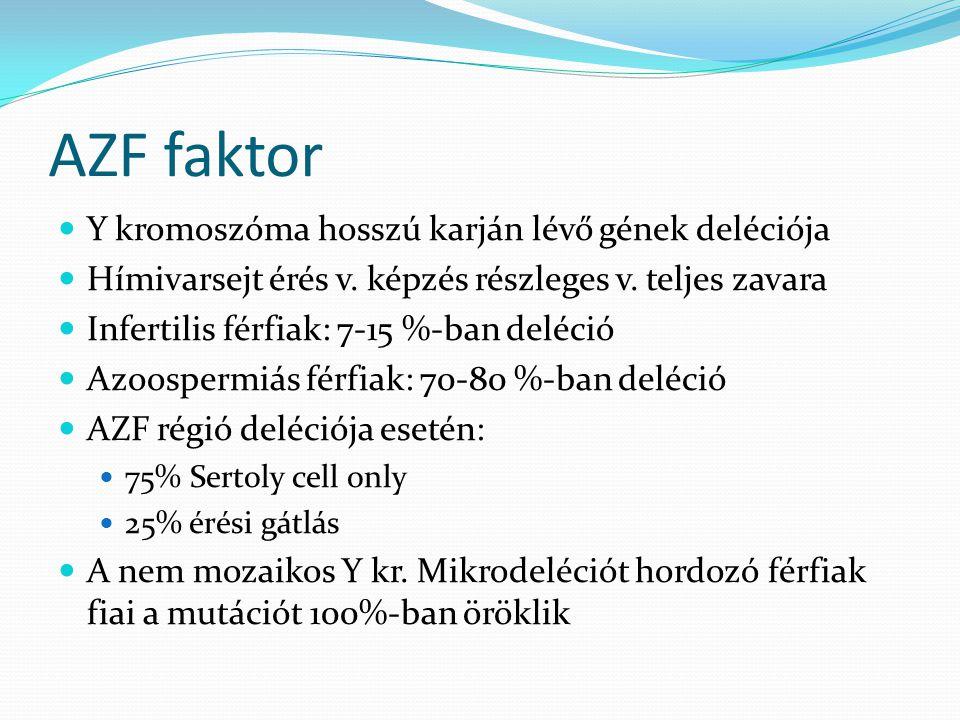 AZF faktor Y kromoszóma hosszú karján lévő gének deléciója