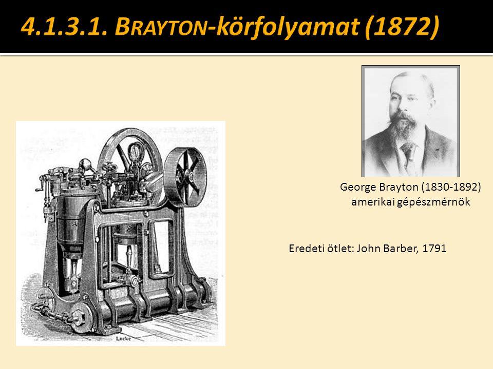 4.1.3.1. Brayton-körfolyamat (1872)