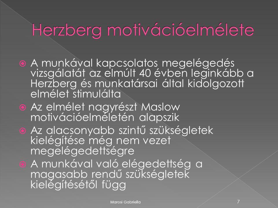 Herzberg motivációelmélete