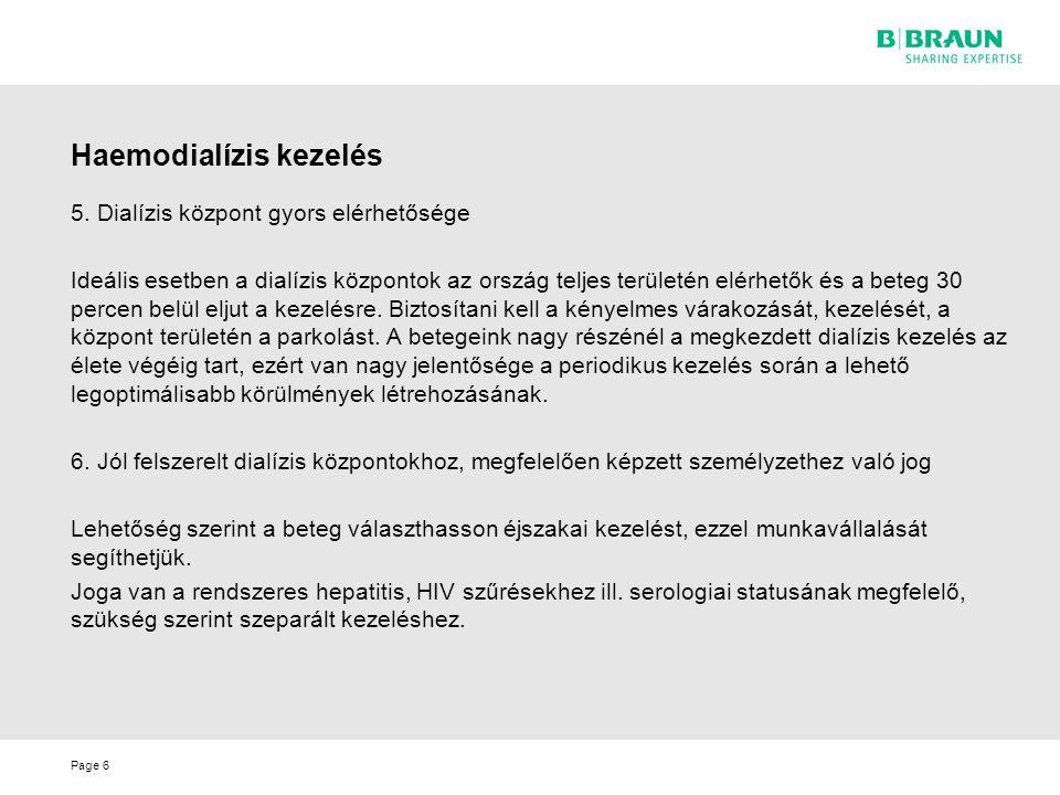 Haemodialízis kezelés