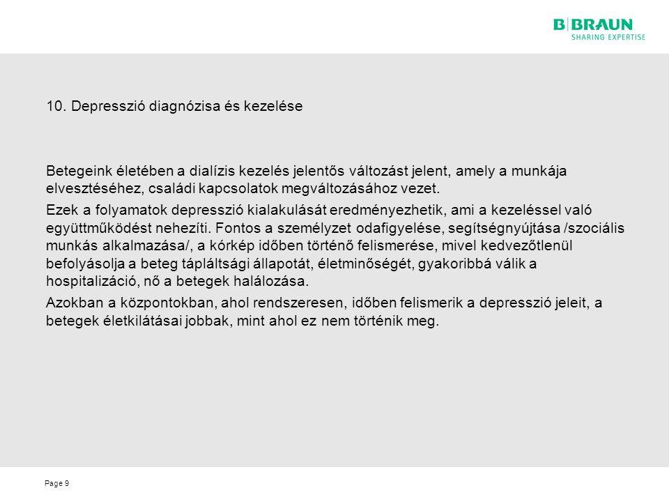 10. Depresszió diagnózisa és kezelése