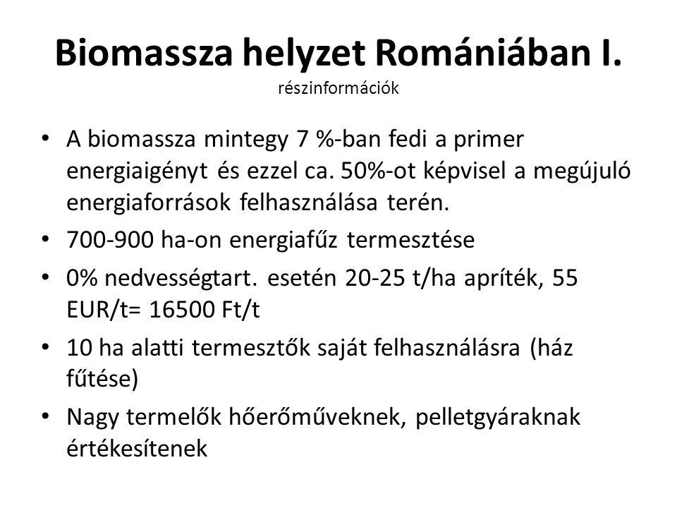 Biomassza helyzet Romániában I. részinformációk