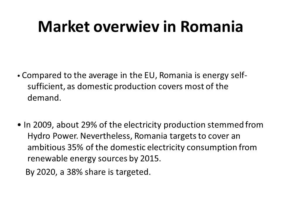 Market overwiev in Romania