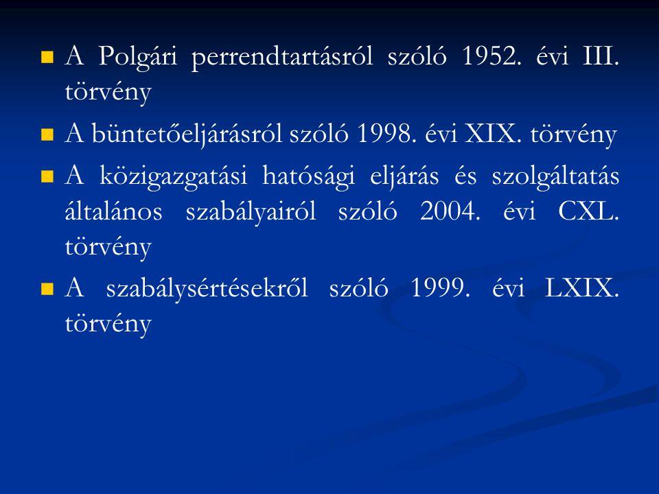 A Polgári perrendtartásról szóló 1952. évi III. törvény