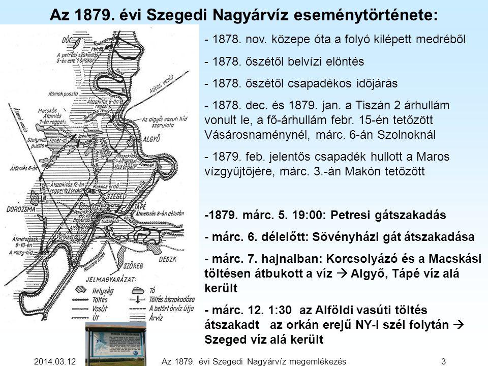 Az 1879. évi Szegedi Nagyárvíz eseménytörténete: