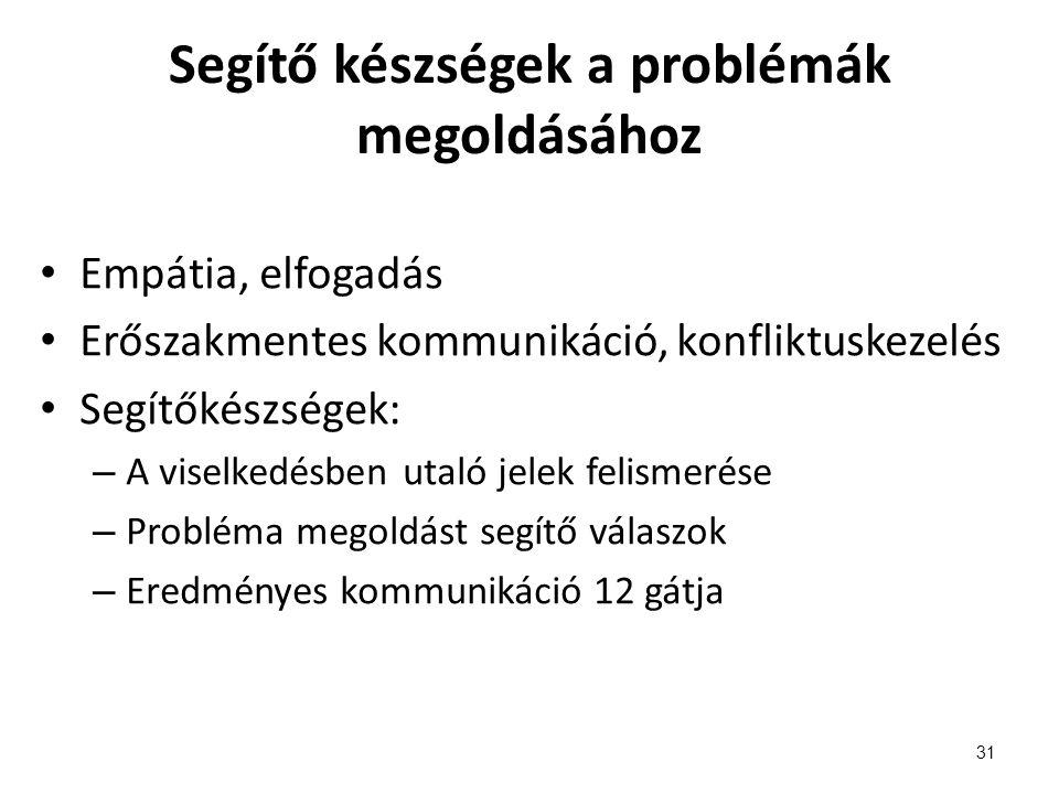 Segítő készségek a problémák megoldásához