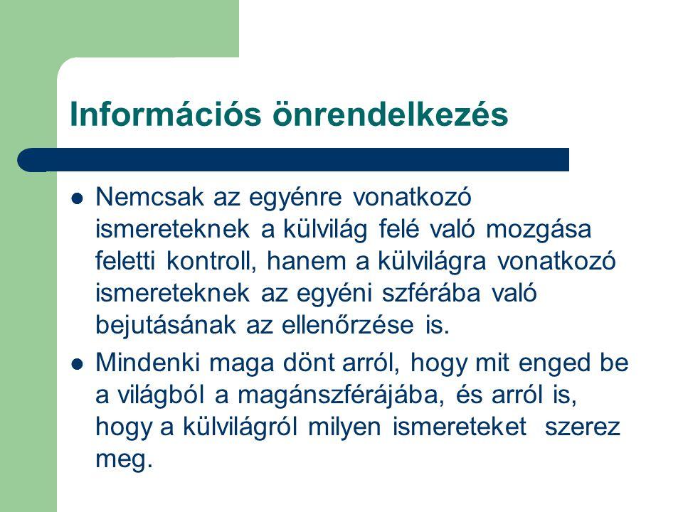 Információs önrendelkezés