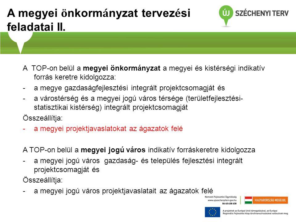 A megyei önkormányzat tervezési feladatai II.