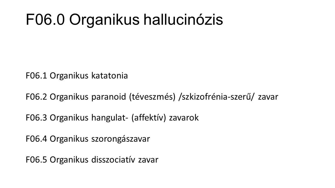 F06.0 Organikus hallucinózis