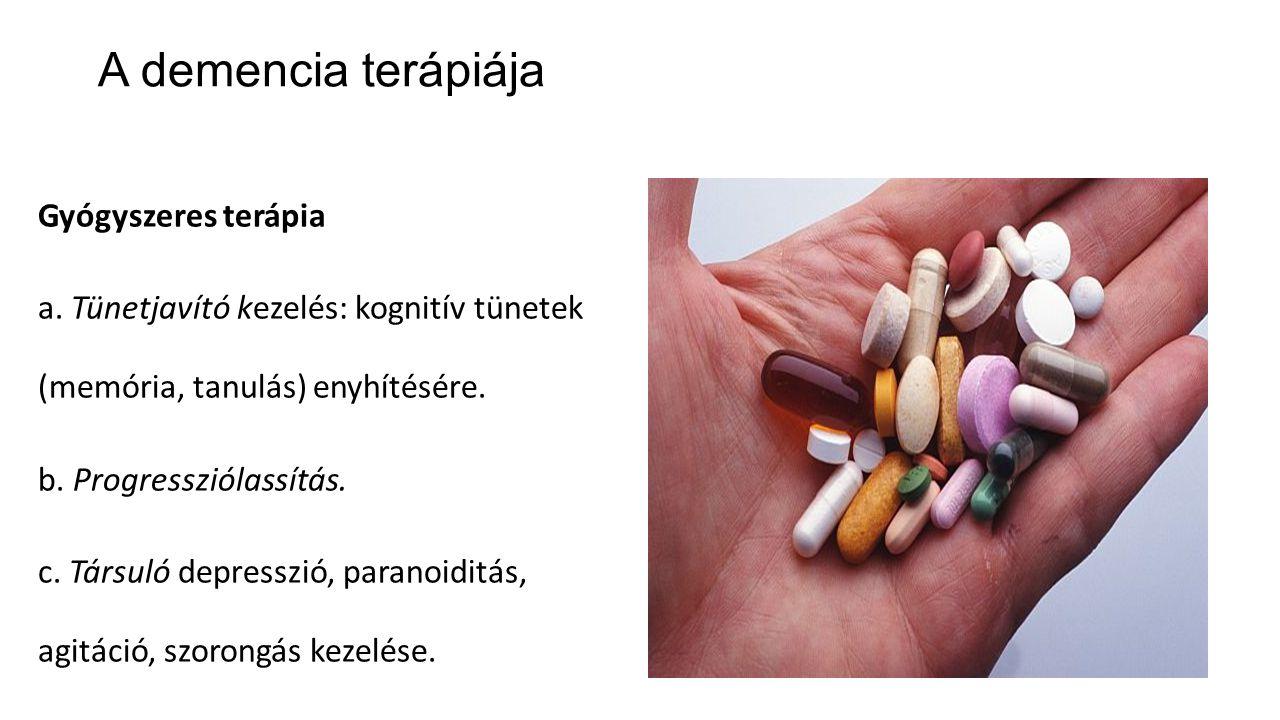 A demencia terápiája Gyógyszeres terápia