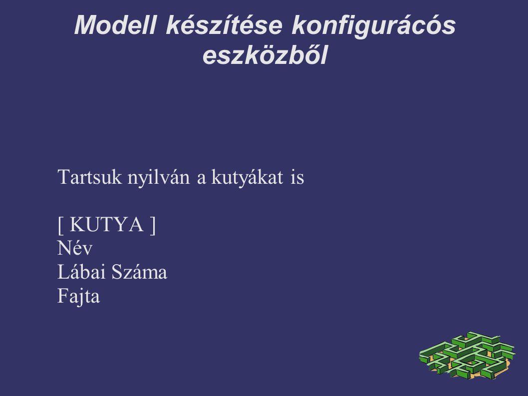 Modell készítése konfigurácós eszközből