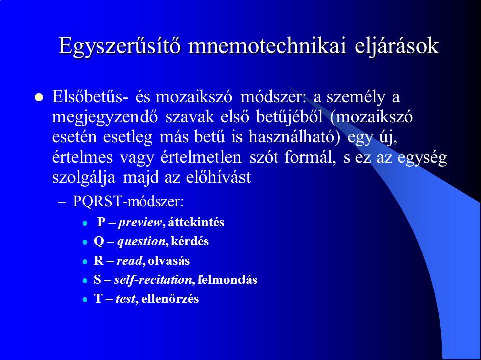 Egyszerűsítő mnemotechnikai eljárások