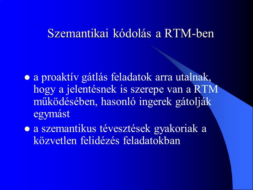Szemantikai kódolás a RTM-ben