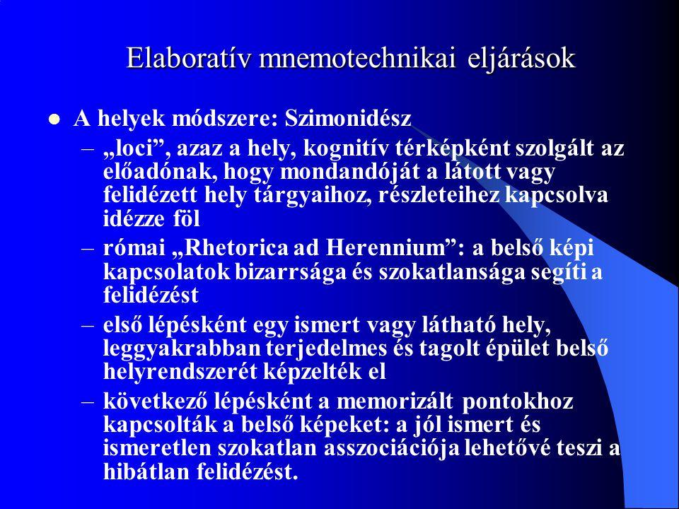 Elaboratív mnemotechnikai eljárások