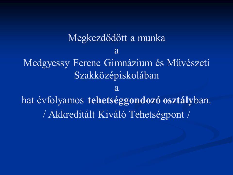 Megkezdődött a munka a Medgyessy Ferenc Gimnázium és Művészeti Szakközépiskolában a hat évfolyamos tehetséggondozó osztályban.