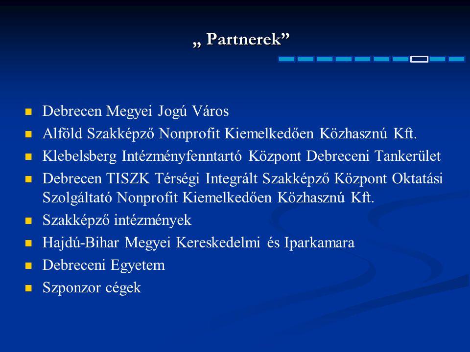 """"""" Partnerek Debrecen Megyei Jogú Város"""