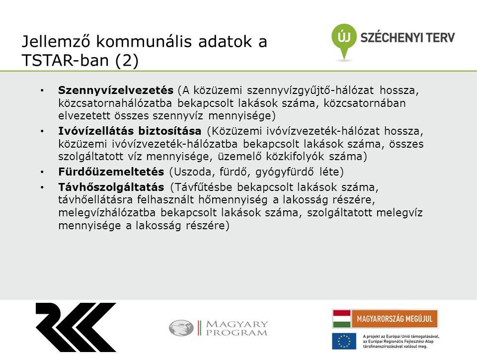 Jellemző kommunális adatok a TSTAR-ban (2)