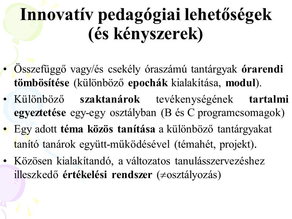 Innovatív pedagógiai lehetőségek (és kényszerek)