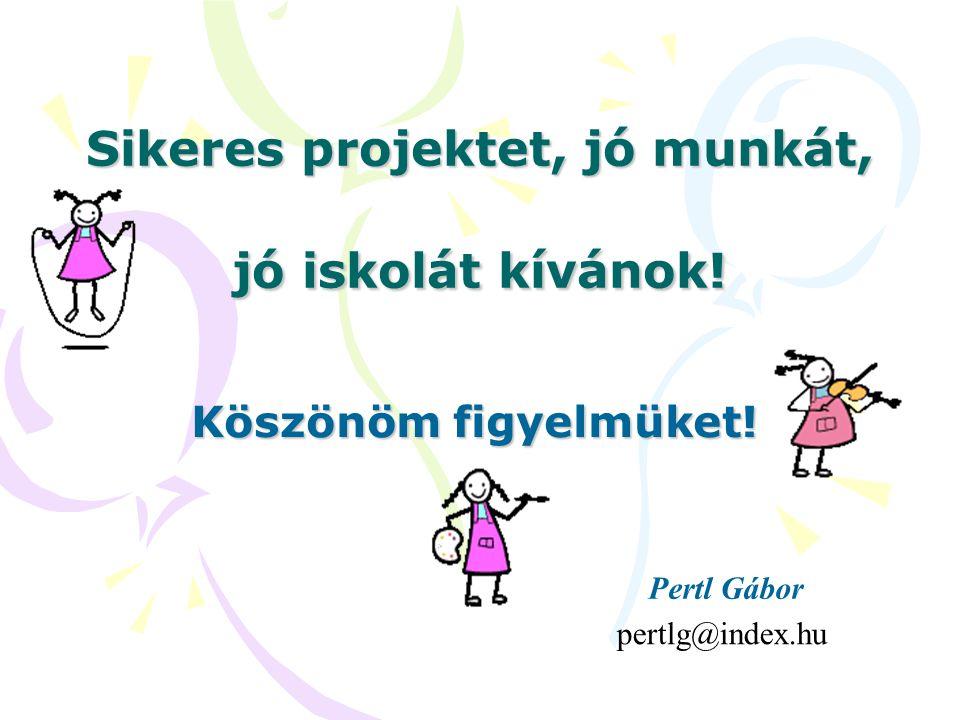 Sikeres projektet, jó munkát, jó iskolát kívánok!