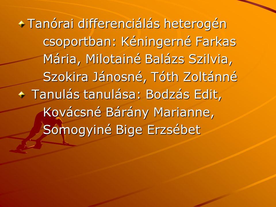 Tanórai differenciálás heterogén
