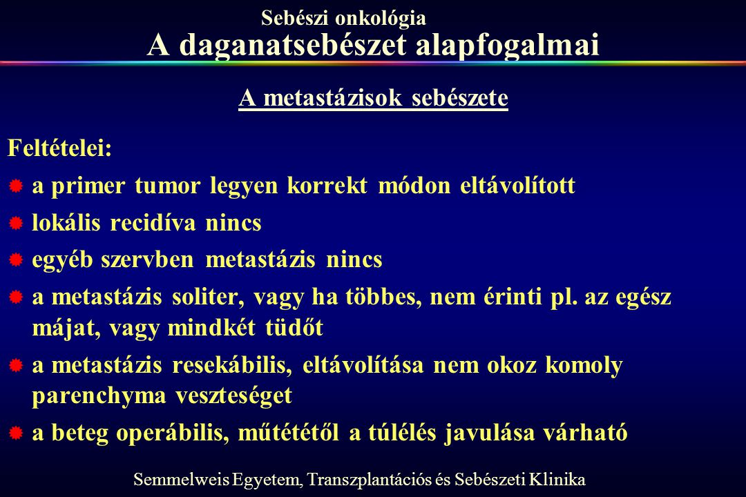 A daganatsebészet alapfogalmai
