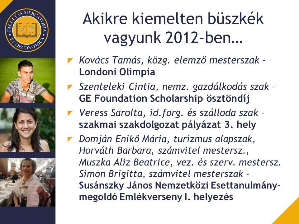 Akikre kiemelten büszkék vagyunk 2012-ben…