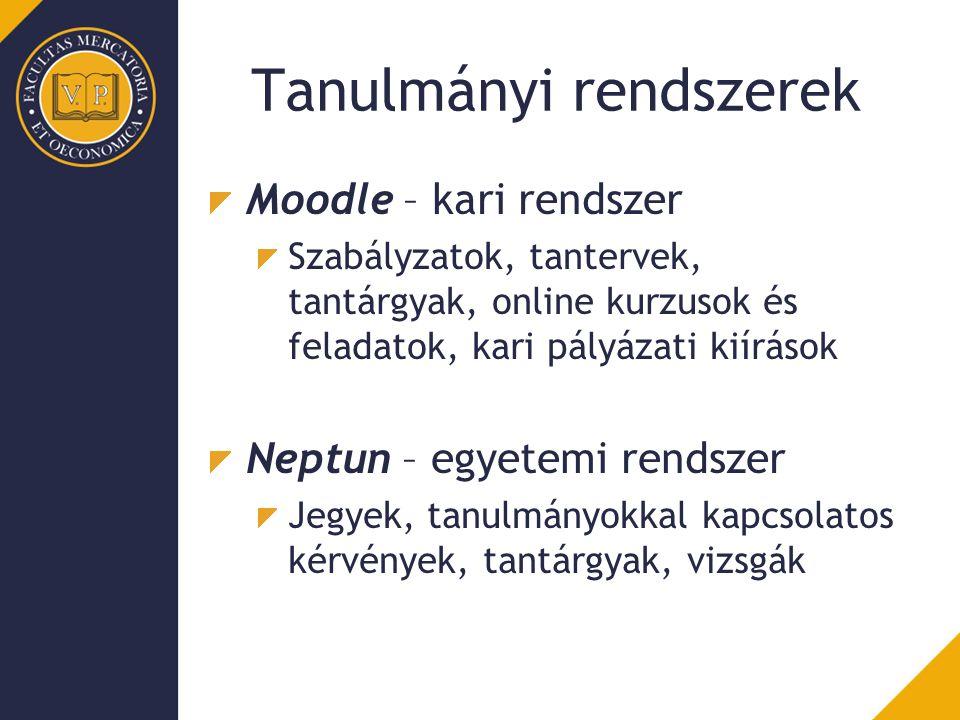 Tanulmányi rendszerek