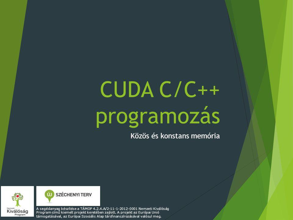 CUDA C/C++ programozás
