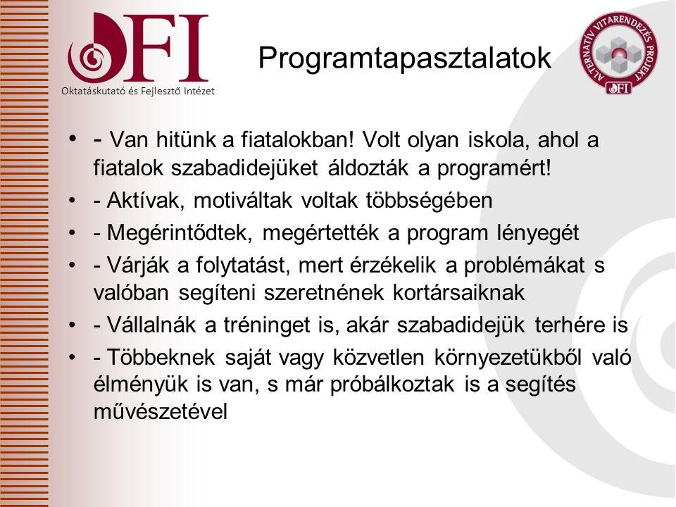 Programtapasztalatok