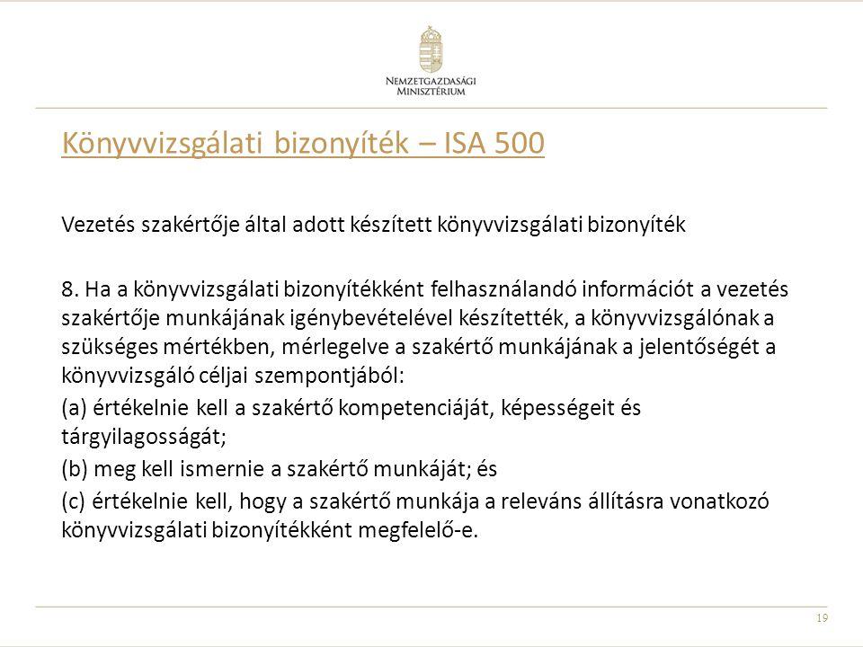 Könyvvizsgálati bizonyíték – ISA 500