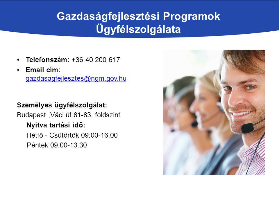 Gazdaságfejlesztési Programok Ügyfélszolgálata
